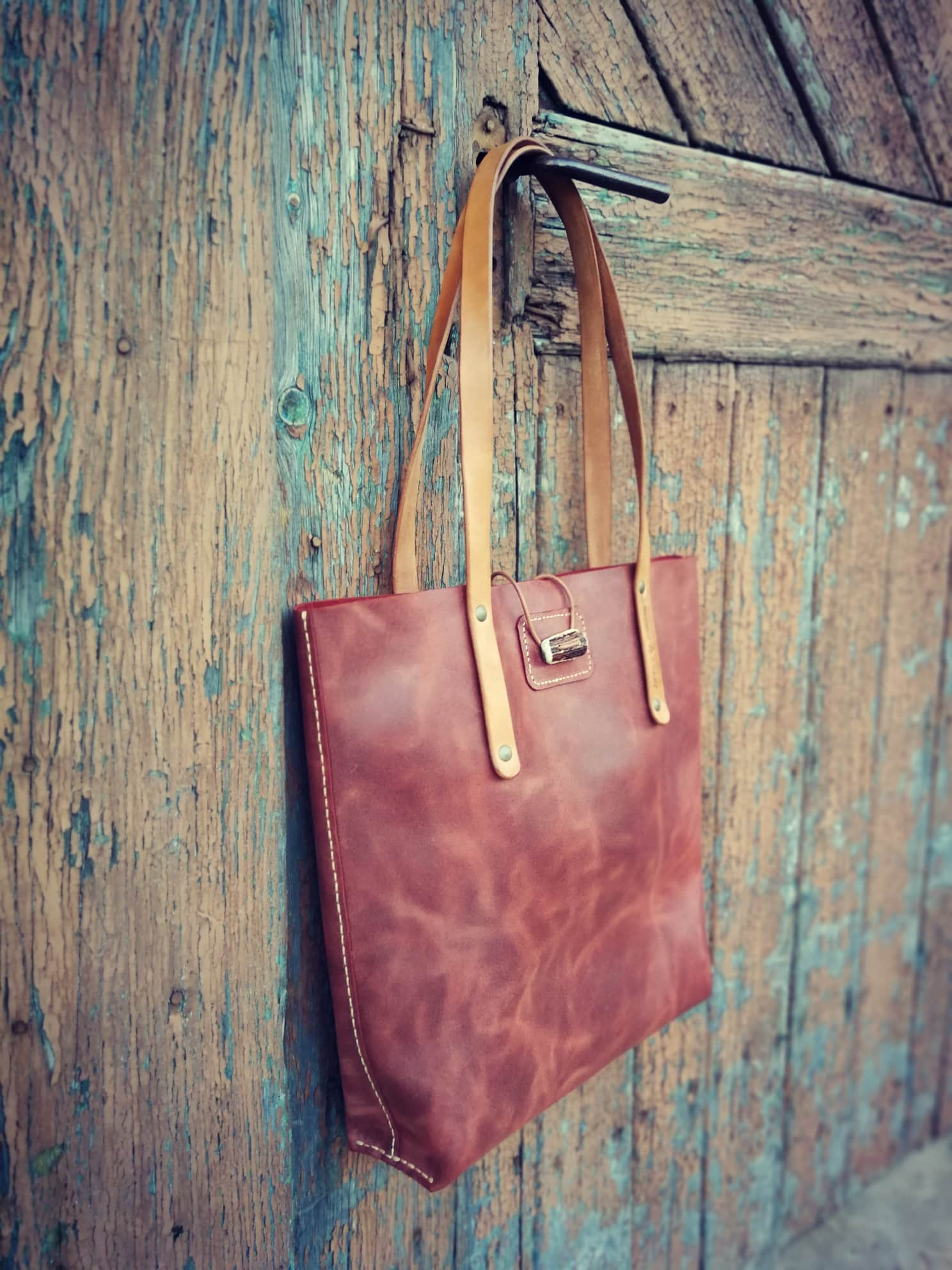 Handbag Tote, leather
